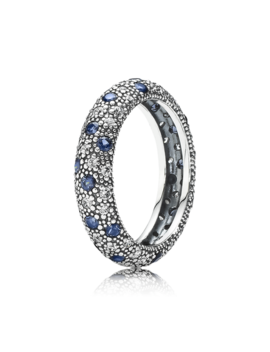 Cosmic Stars Stackable Ring, Blue Crystal & Cz by Pandora