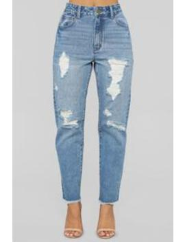 Simple Things High Rise Boyfriend Jeans   Light Blue Wash by Fashion Nova