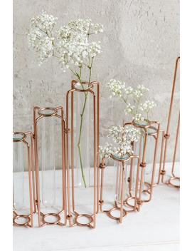 Copper Staggered Vase by Francesca's