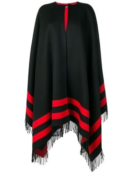 Reversible Striped Cape by Alexander Mc Queen