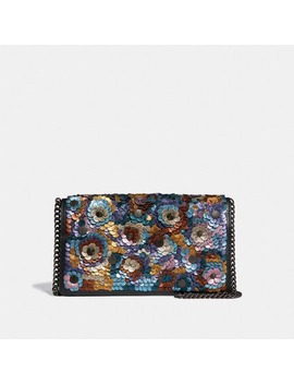 Callie Foldover Chain Clutch With Leather Sequin by Coach