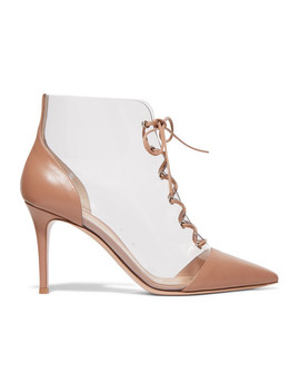 Leather And Pvc Ankle Boots by Gianvito Rossi