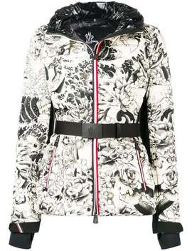 Flowers Print Puffer Jacket by Moncler Grenoble