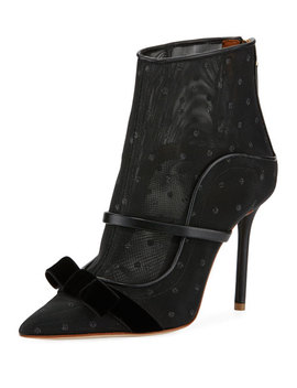 Claudia Luwolt Mesh/Velvet Booties by Malone Souliers