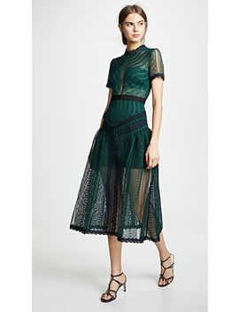 Wave Lace Dress by Self Portrait