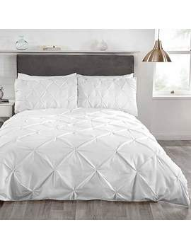 Balmoral White Duvet Cover And Pillowcase Set by Dunelm