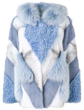 Fur Mix Hooded Jacket by Yves Salomon
