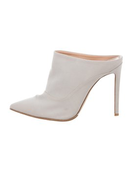 Canvas Pointed Toe Mules by Gianvito Rossi For Altuzarra
