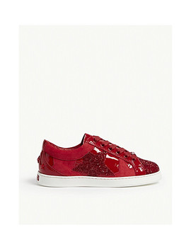 Cash Suede And Glitter Low Top Trainers by Jimmy Choo