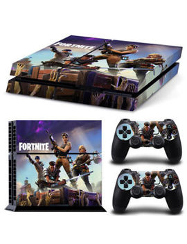 Fortnite Ps4 Playstation 4pcs Skin Sticker Decal Console+Contro<Wbr>Llers Vinyl 6936 by Ebay Seller