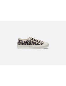 Walk'n'dior Sneaker In Oblique Embroidered Canvas by Dior