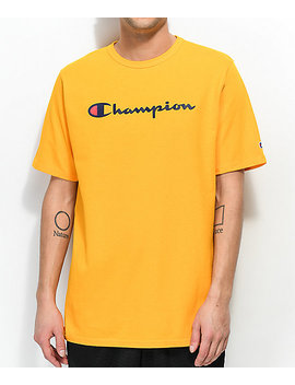 Champion Script Gold T Shirt by Champion