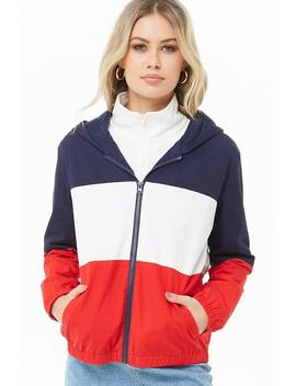 Colorblock Zip Up Jacket by Forever 21