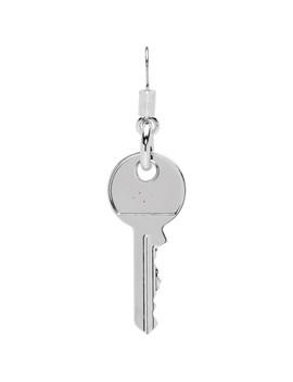 Silver Key Earring by Mm6 Maison Margiela