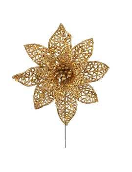 Gold Lace Poinsettia Pick By Ashland® by Ashland