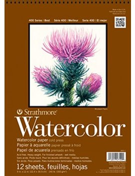 Pro Art Strathmore Watercolor Paper Pad X Inch, 12 Sheets, White by Pro Art