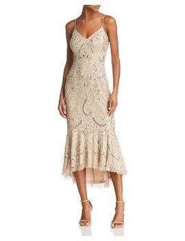 Embellished Midi Dress   100 Percents Exclusive by Aidan Mattox
