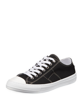 Men's Stereotype Canvas Low Top Sneakers by Maison Margiela