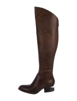 Leather Knee High Boots by Alexander Wang