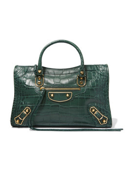 Classic City Small Croc Effect Leather Tote by Balenciaga