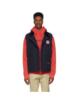 Navy Down Freestyle Crew Vest by Canada Goose