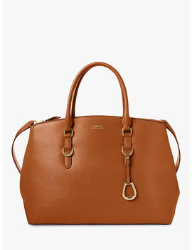 Lauren Ralph Lauren Large Double Zip Leather Satchel, Lauren Tan by Ralph Lauren