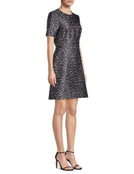Floral Short Sleeve Mini Dress by Jason Wu