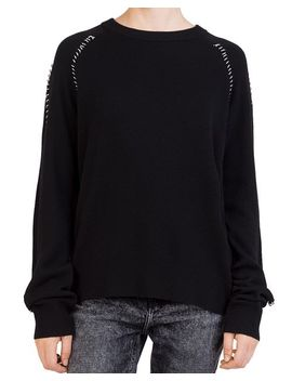 Ring Trim Crewneck Sweater by The Kooples