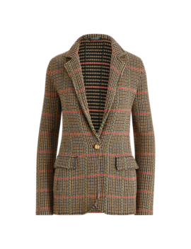 Plaid Wool Blend Blazer by Ralph Lauren
