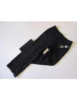 Nwt Lauren Ralph Lauren Black Wide Leg Cuffed Stretch Wool Trouser Pant 10 X 31 by Lauren Ralph Lauren