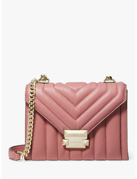 Michael Michael Kors Whitney Small Quilted Leather Shoulder Bag, Rose by Michael Kors