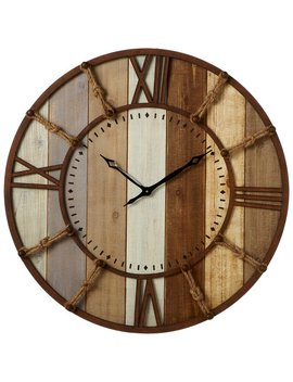 "Loon Peak Oversized Imran Slat 32"" Wall Clock & Reviews by Loon Peak"