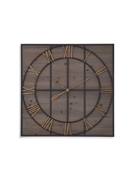 17 Stories Neysa Square Wood Analog Wall Clock by 17 Stories