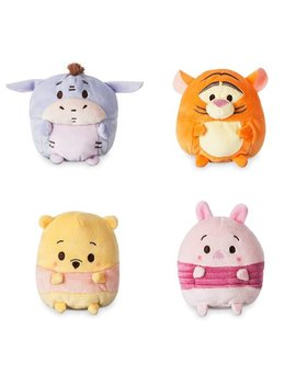Disney Ufufy Winnie The Pooh. Eeyore. Piglet And Tiger Complete Set Small Scented Plush Bundle. 4.5 Inch by Disney Parks