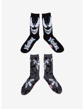 Marvel Venom Face Crew Socks 2 Pairs by Hot Topic