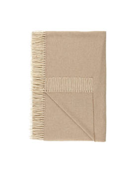 Croft Collection 100 Percents Cashmere Throw, Natural by Croft Collection