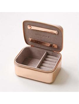 Caroline Gardner Metallic Rose Gold Travel Jewellery Box by Caroline Gardner