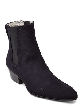 Navy Suede Chelsea Boots by Rochas