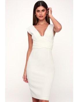 Cecilia White Sheath Midi Dress by Grace Willow The Label