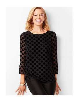 Velvet Burnout Dot Top by Talbots