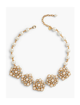 Pearl And Crystal Statement Necklace by Talbots