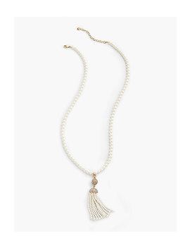 Pearl Tassel Pendant Necklace by Talbots