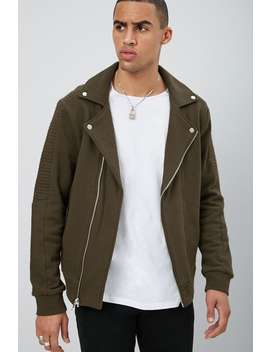 Fleece Moto Jacket by Forever 21