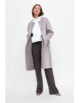 Reversible Coat In Contrasting Texture  Faux Fur Coats Woman by Zara