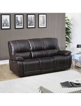 Walton Brown Top Grain Leather Power Reclining Sofa by Generic