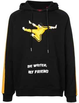 Be Water My Friend Hoodie by Mostly Heard Rarely Seen 8 Bit