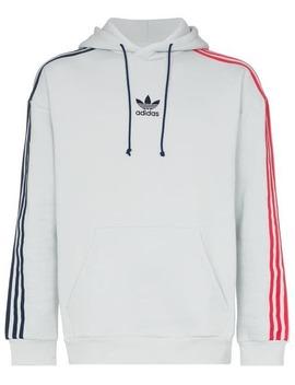Contrasting Striped Sleeves Hoodie by Adidas