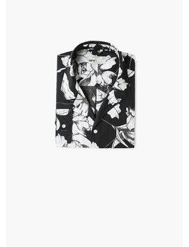 Bawełniana Koszula Regular Fit Z Nadrukiem by Mango