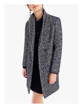 J.Crew Italian Tweed Topcoat, Navy by J.Crew
