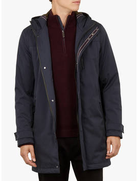 Ted Baker Rockfrt Quilted Hooded Parka Coat, Navy by Ted Baker